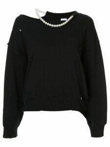 Maison Mihara Yasuhiro distressed slouchy sweatshirt - Black