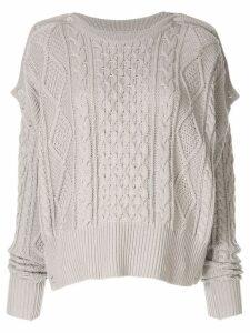 Maison Mihara Yasuhiro cable knit slouchy sweater - Grey
