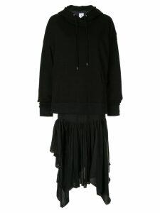 Maison Mihara Yasuhiro oversized hoodie dress - Black