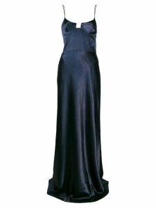 Galvan metallic evening dress - Blue
