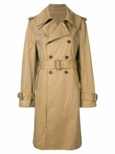 Maison Mihara Yasuhiro double breasted trench coat - Brown