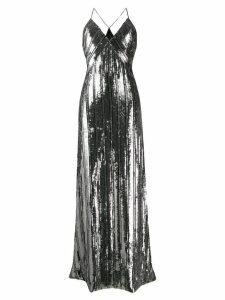 Galvan Stardust slip dress - Silver
