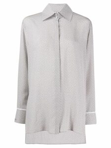 Fendi chevron pattern shirt - Grey