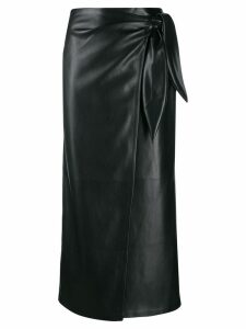 Nanushka wrap midi skirt - Black