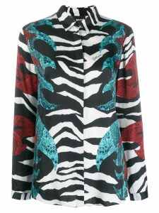 Just Cavalli printed long sleeve shirt - Black