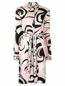 Emilio Pucci Fortuna Print Shirt Dress - Black
