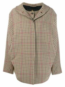 Vivienne Westwood Anglomania Bomber Nymphe check jacket - Neutrals