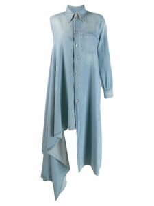 Mm6 Maison Margiela denim shirt dress - Blue