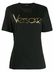 Versace metallic logo T-shirt - Black