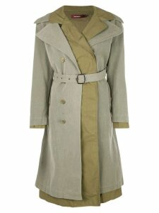 Sies Marjan belted double breasted coat - Green