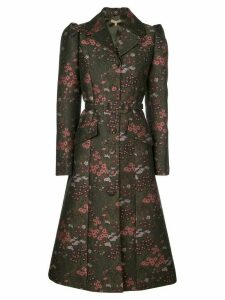 Michael Kors Collection Floral brocade single-breasted coat - Green