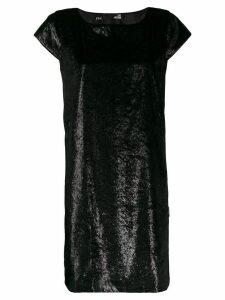 Love Moschino lurex shift dress - Black