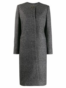 Salvatore Ferragamo houndstooth single-breasted coat - Grey