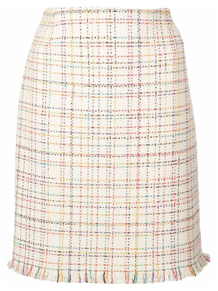 Akris Punto rainbow tweed skirt - Neutrals