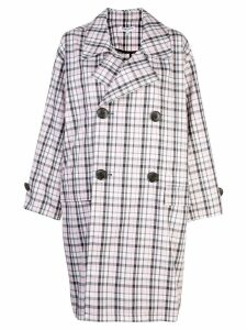 Opening Ceremony oversized plaid trench - Pink