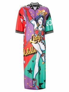 Dolce & Gabbana Super Heroine print maxi dress - Multicolour