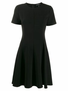 Theory short-sleeve flared dress - Black
