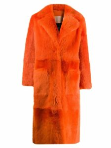 Liska oversized print coat - Orange