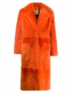 Liska oversized print coat - Orange