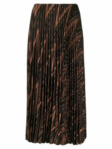 M Missoni metallic knit pleated skirt - Black