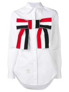 Thom Browne Grosgrain Bow Shirt - White