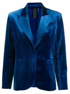 Norma Kamali classic fitted blazer - Blue