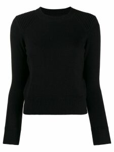Isabel Marant Étoile fitted crew neck jumper - Black