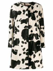 Max Mara Studio printed coat - Black