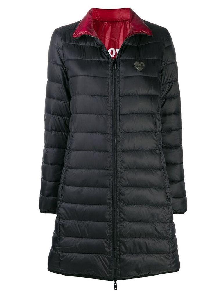 Love Moschino zipped padded coat - Black