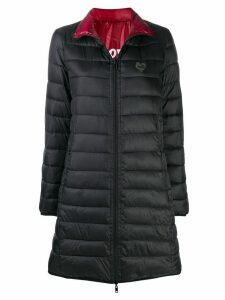 Love Moschino zipped padded coat - Black