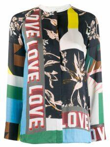 Dorothee Schumacher patch-work print blouse - Blue