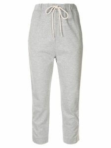 Bassike cropped track trousers - Grey