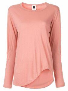 Bassike heritage scoop hem long sleeve top - Pink