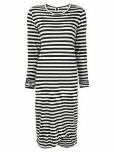 Bassike striped jersey dress - Black