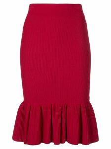 Akris Punto ribbed-knit skirt - Red