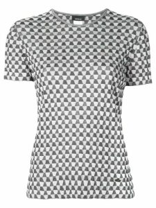 Akris patterned crew neck T-shirt - Silver