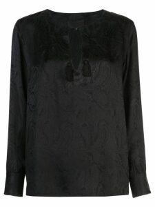 Nili Lotan Lucena blouse - Black