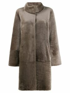 Liska single-breasted fitted coat - Grey