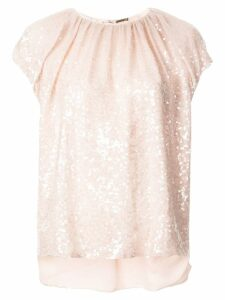 Adam Lippes sequin embellished blouse - Pink