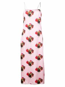 Adam Lippes all-over print dress - PINK