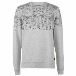 Firetrap Blackseal Skull Leaf Crew Sweater