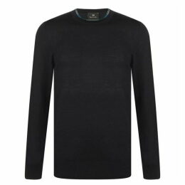 PS by Paul Smith Paul Neck Detail Knitted Jumper Mens