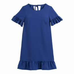 Ruffled Tie-Back Shift Dress