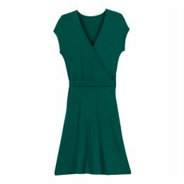 Wrapover Jersey Dress