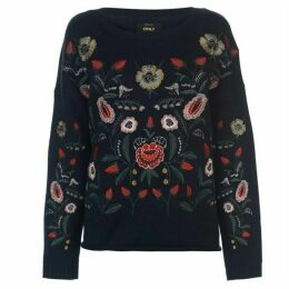 Only Uma Embroidered Knit Jumper