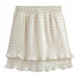 Ruffled Polka Dot Print Skirt