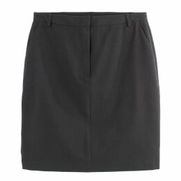 Straight Stretch Skirt with Pockets