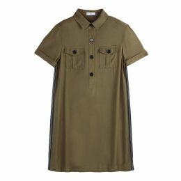 Side Stripe Utility Shift Dress
