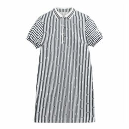 Striped Cotton Polo Dress