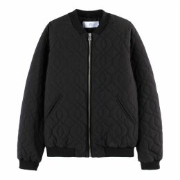 Quilted Bomber Jacket with Pockets